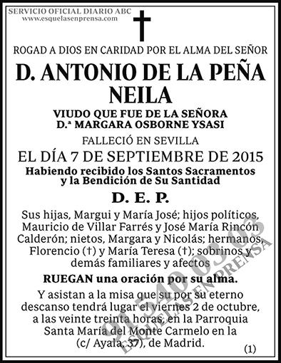 Antonio de la Peña Neila